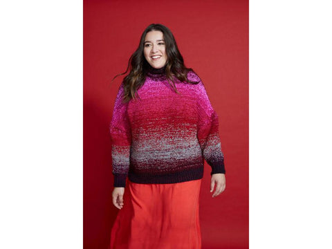 Gradient Pullover in Lion Brand Amazing Lace