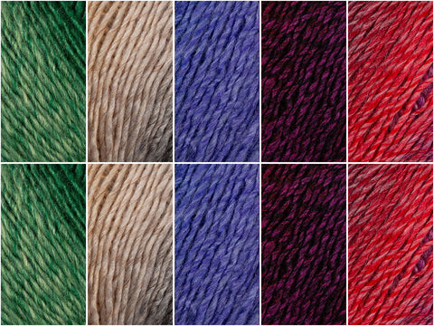 Gradients Colour Pack in Cygnet Yarns Prism DK
