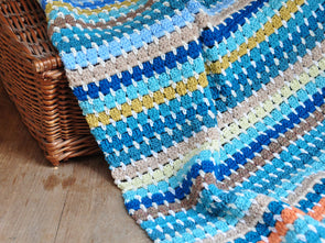 Granny Block Blanket Crochet Kit and Pattern