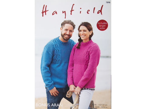 Sweaters in Hayfield Bonus Aran (7898)