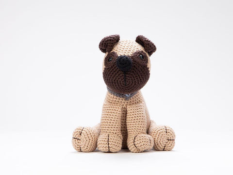Poodle, Pug & Rottweiler Crochet Kit and Pattern