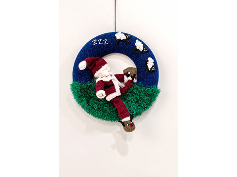 Sleepy Santa Wreath Knit-Along by Jane Burns in King Cole Yarn