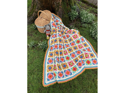 Peerie Blooms Blanket Crochet Kit and Pattern in Stylecraft Yarn