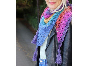 Lambay Shawl Crochet Kit and Pattern in King Cole Yarn