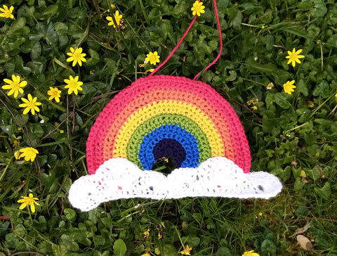 Rainbow Window Decoration Crochet Kit and Pattern in Deramores Yarn