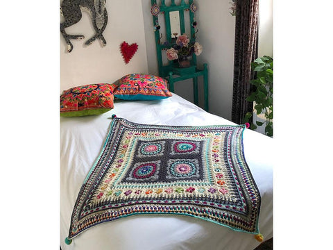 Mosaic Dream Blanket Crochet-Along by Emma Leith in West Yorkshire Spinners ColourLab DK & Deramores Studio DK