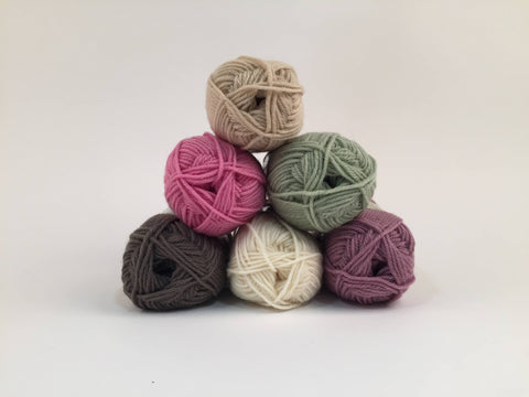 King Cole Merino Blend DK Dusky Rose Colour Pack