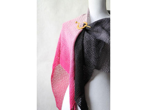 Fade Out Shawl Crochet Kit and Pattern in Scheepjes Yarn