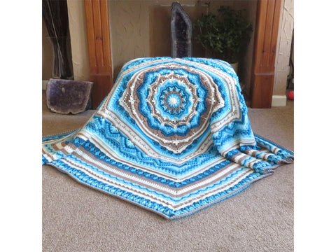 Cornish Comfort Blanket by Crystals & Crochet in Stylecraft Special DK