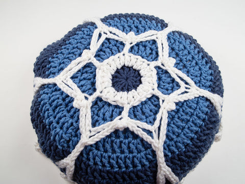 Ice Crystal Cushion by Alison Holloway in Deramores Studio Chunky