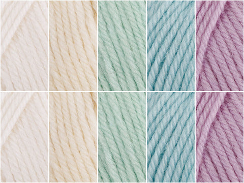 Iridescent Pearls Colour Pack in Cygnet Yarns Pure Wool Superwash DK