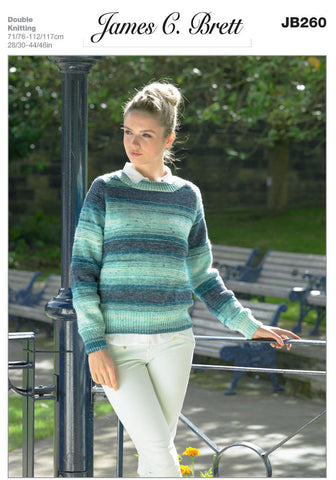 Ladies Sweater in James C. Brett Woodlander DK (JB260)