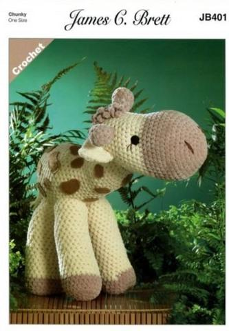 Sunshine the Giraffe in James C. Brett Flutterby Chunky (JB401)