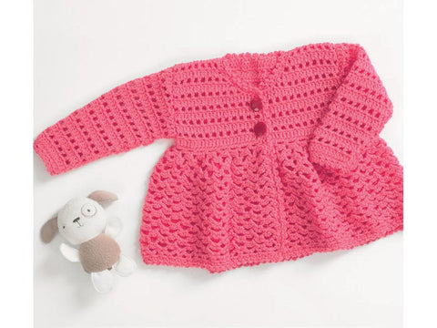 Baby Coat Crochet Kit and Pattern (5080)