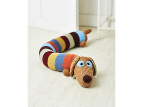 Sausage Dog Draught Excluder by Amanda Berry in Deramores Studio DK