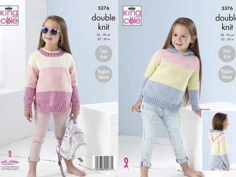 Sweaters in King Cole Cotton Top DK (5376)