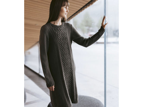 Kaari Tunic in Novita Wool Cotton Knitting Kit and Pattern