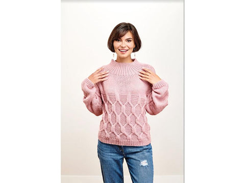 Let's Knit Keyhole Back Jumper Colour Pack in Stylecraft Bellissima Chunky