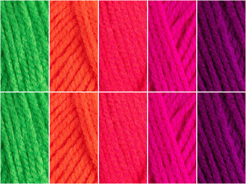 King Cole Big Value Neon DK - Rainbow Belt Colour Pack