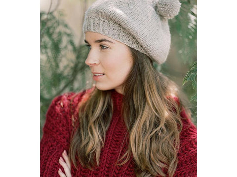 Knitted Beret in Novita Nordic Wool