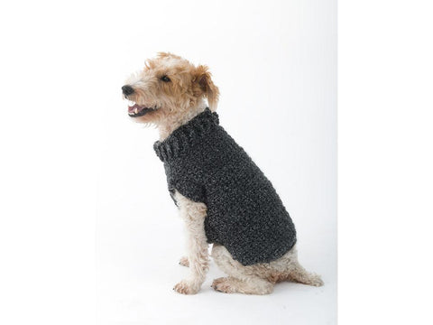 The Poet Dog Sweater in Lion Brand Homespun (L32350)