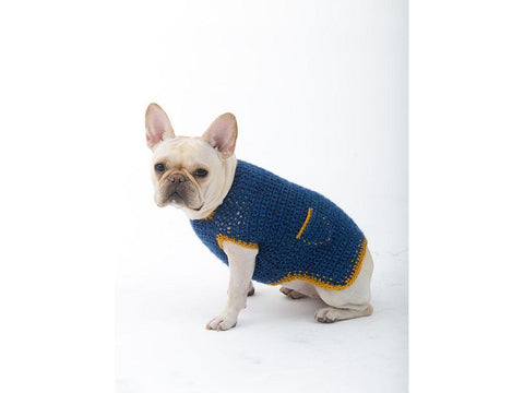 The Casual Friday Dog Sweater Crochet Kit and Pattern in Lion Brand Yarn