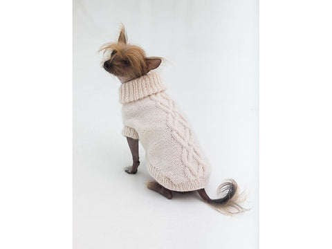 The Prep Dog Sweater in Lion Brand Wool-Ease (L32372)