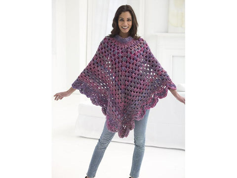 Boho Poncho in Lion Brand Homespun (L50053)