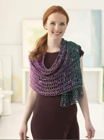 Sparkle Shawl Crochet Kit and Pattern in Lion Brand Yarn (L60157)