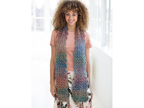 Verona V-Stitch Scarf in Lion Brand Homespun (L60183)