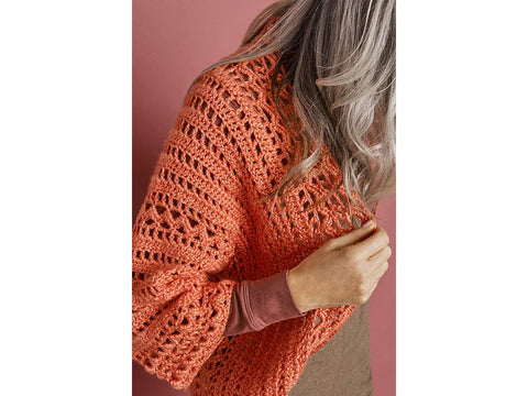 High Street Cardigan Crochet Kit and Pattern in Lion Brand Yarn