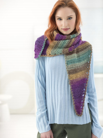 Lion Brand Landscapes Shades Of Spring Shawl Hand Knitting And