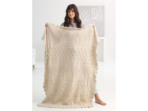Tree of Life Afghan in Lion Brand Wool-Ease (L70122)