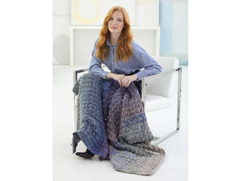 Textured Afghan Crochet Kit and Pattern in Lion Brand Yarn (L70200)