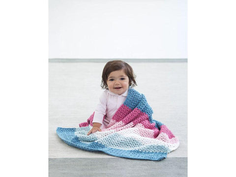 Calle Baby Afghan in Lion Brand Feels Like Butta (L70224)