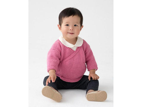 Gowanus Baby Wrap Cardi in Lion Brand Feels Like Butta (L70273)