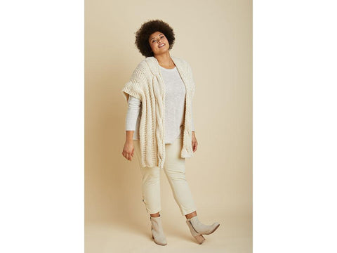 Rhinebeck Ruana in Lion Brand Wool-Ease Thick & Quick (L70353)