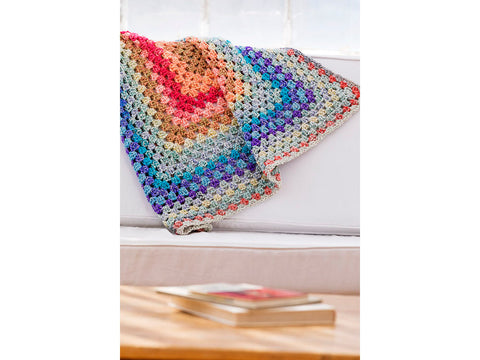Bright and Breezy Afghan in Lion Brand Homespun New Look (L80148)