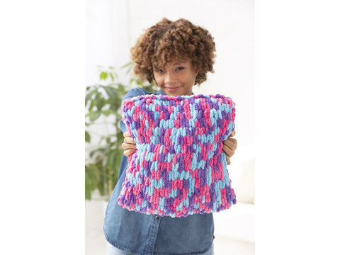 Claire Pillow Crochet Kit and Pattern in Lion Brand Yarn (L80225)