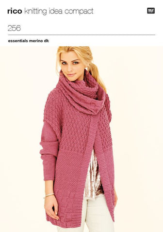 Ladies Jacket and Snood in Rico Essentials Merino DK - 256