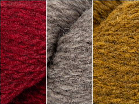 Lava Ash Colour Pack in Baa Ram Ewe Winterburn Aran