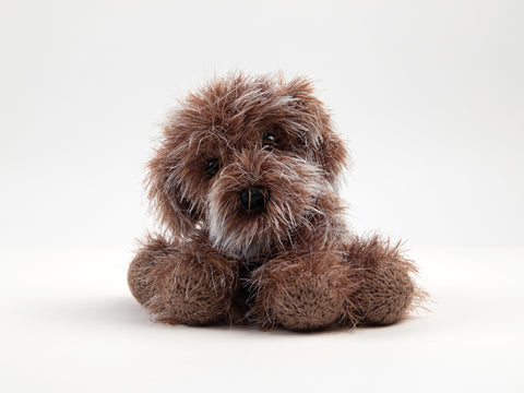 Daisy the Cavapoochon in James C. Brett Faux Fur & Hayfield Bonus DK - Knitting Kit & Pattern