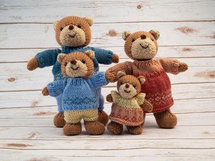 Bear Family Knitting Kit and Pattern
