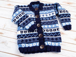 Child's Fairisle Cardigan by Sarah Murray in Deramores Studio Chunky