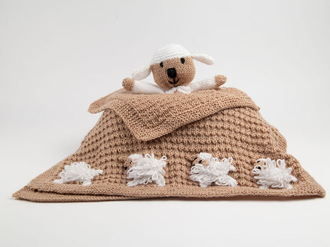 Newborn Baby Unisex Set (Lamb) Knitting Kit and Pattern