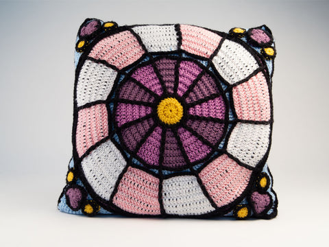 Rose Window Cushion Crochet Kit and Pattern