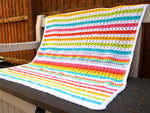 Rainbow Kisses Baby Blanket Crochet Kit and Pattern in Deramores Yarn