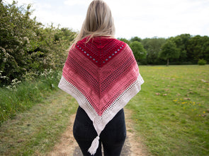 In The Pink Shawl Crochet Kit and Pattern in Deramores Yarn