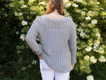 Slouchy Cotton Jumper Knitting Kit and Pattern in Deramores Yarn