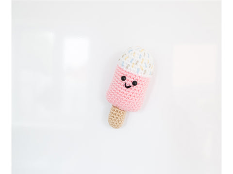 Sugar Sprinkles Fridge Magnet Ice Lolly Crochet Kit and Pattern